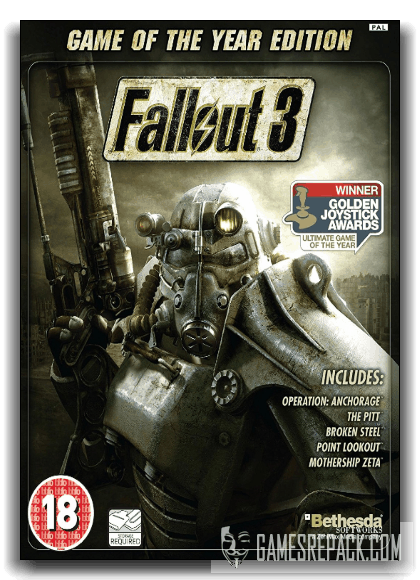 Fallout 3 Game of the Year Edition (Bethesda Softworks) (RUS|RUS) [RePack] от xatab