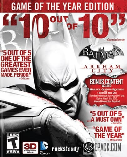 Batman: Arkham City - Game of The Year Edition (Warner Bros.) (RUS/ENG) [Repack] by FitGirl