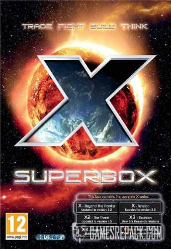 X: Superbox (Beyond the Frontier; Tension; The Threat; Reunion; Terran Conflict; Albion Prelude; Rebirth) (THQ / Deep Silver / Egosoft) (RUS/ENG/MULTI) [RePack] от R.G. Catalyst