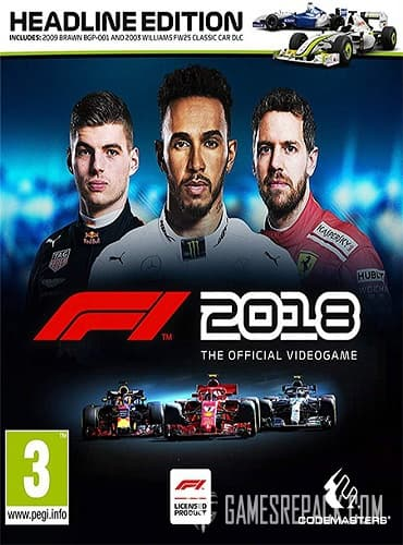 F1 2018: Headline Edition (RUS/ENG/MULTI4) [Repack] by FitGirl